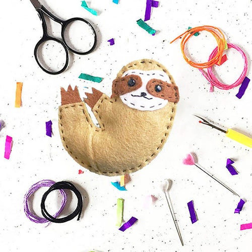 The Make Arcade Sammy Sloth felt kit