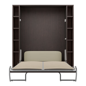 Elara Aruba Wenge - Murphy Bed with Shelves