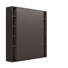 Load image into Gallery viewer, Elara Aruba Wenge - Murphy Bed with Shelves