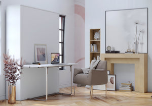 Elara White with Desk