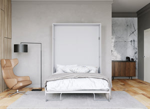 wall bed in white color