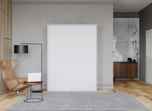 Load image into Gallery viewer, Elara Longa White Murphy Bed