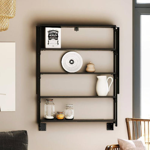 Convertible Bookshelf to Table 2 in 1 Wall Desk