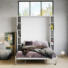 Load image into Gallery viewer, Elara White - Murphy Bed with Shelves