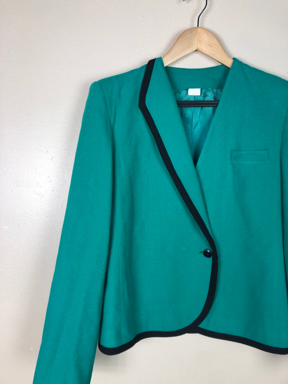 80s Green Asymmetrical Blazer