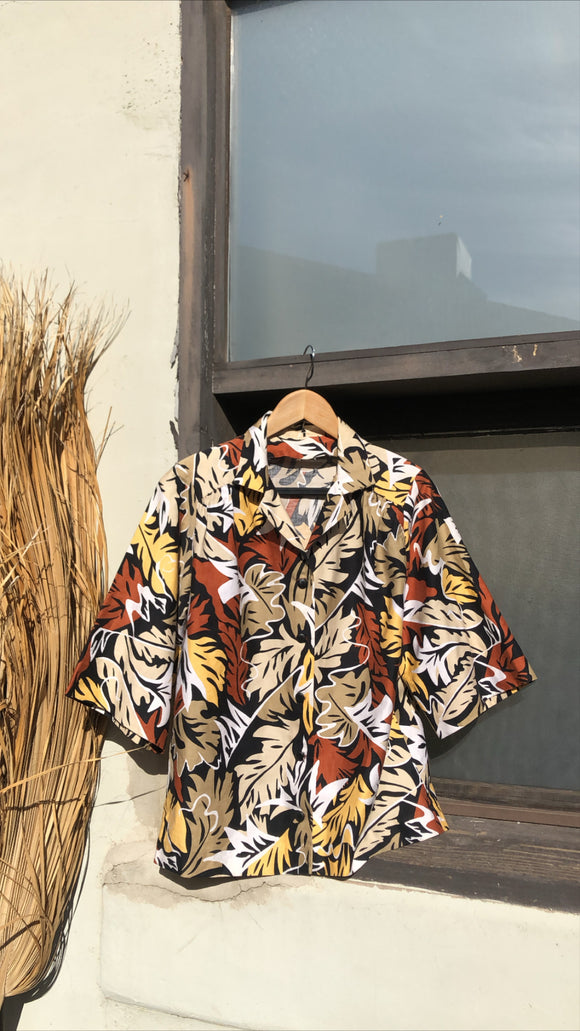 Retro Tropical Tiki Button Down