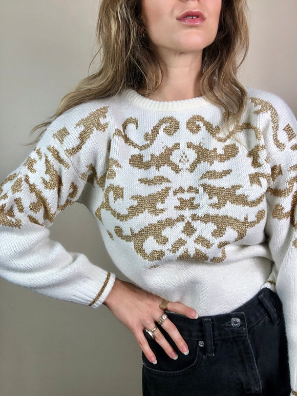 Filigree Sparkle Sweater