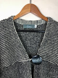 Button Detail Ribbed Cardigan