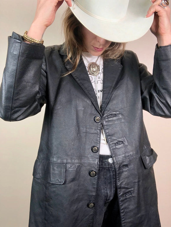 70s Dad Style Leather Jacket