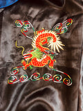 Reversible Embroidered Dragon Satin Duster Kimono