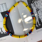 Accra Yellow Beaded Collar Necklace