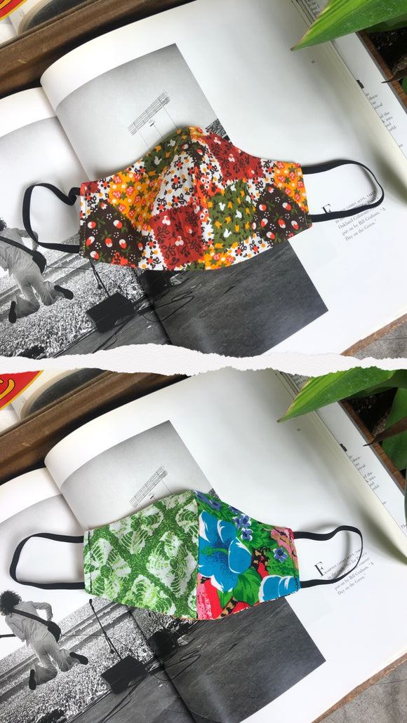 The Retro Summer Batik Slim Mask