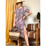 Hand Dyed Printed Side Slit Kurti Tunic Dress