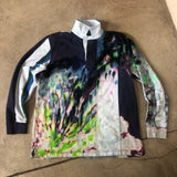 Chaps RL Logo Colorful Tie Dye L/S Rugby Polo