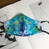 Miami Tie Dye Abstract Reversible Slim Mask