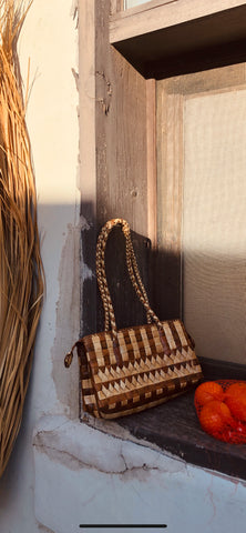 Retro Woven Rattan Small Shoulder Bag