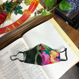 The Julia Camo Floral Split Face Mask
