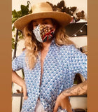 The Axel Rose Floral Leopard Slim Mask