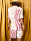 Polka Dot & Striped 2 PC Vintage Shorts Set