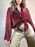 Sheer SIlk Leopard Shirt