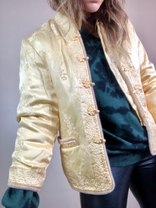 Golden Asian Satin Jacket