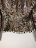 Metallic Paisley Puff Sleeve Jacket