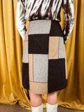 Recycled Wool Patchwork Skirt
