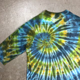 Cool Tone Tie Dye 3/4 Sleeve T Shirt