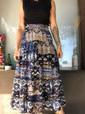 Peasant Boho Midi Length Skirt
