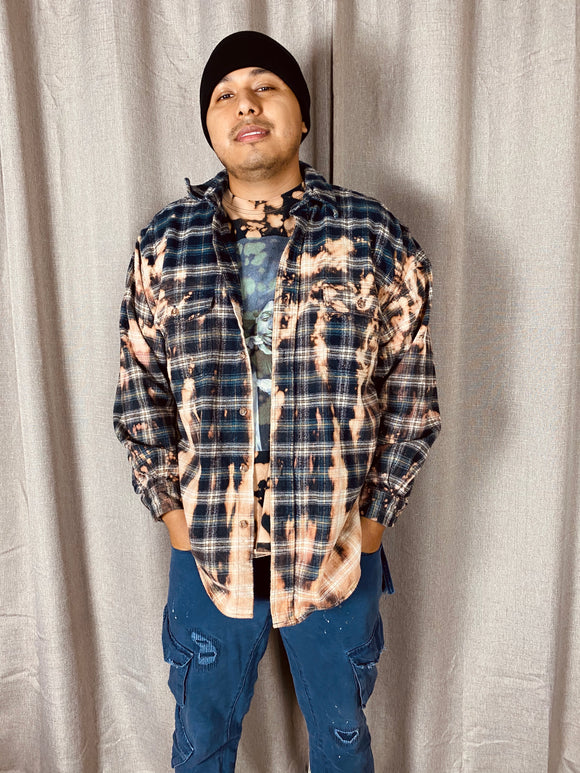 Workers Grunge Bleached Out Flannel