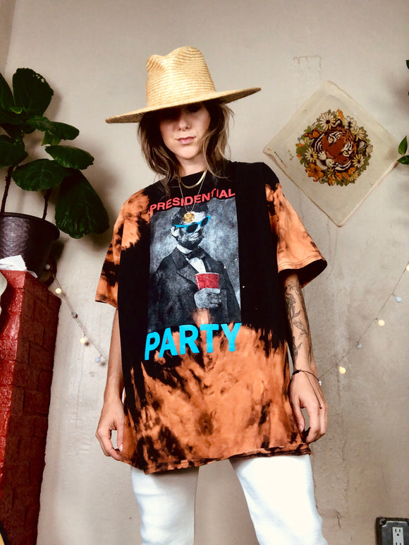 Abe Presidential Party Bleached Tee