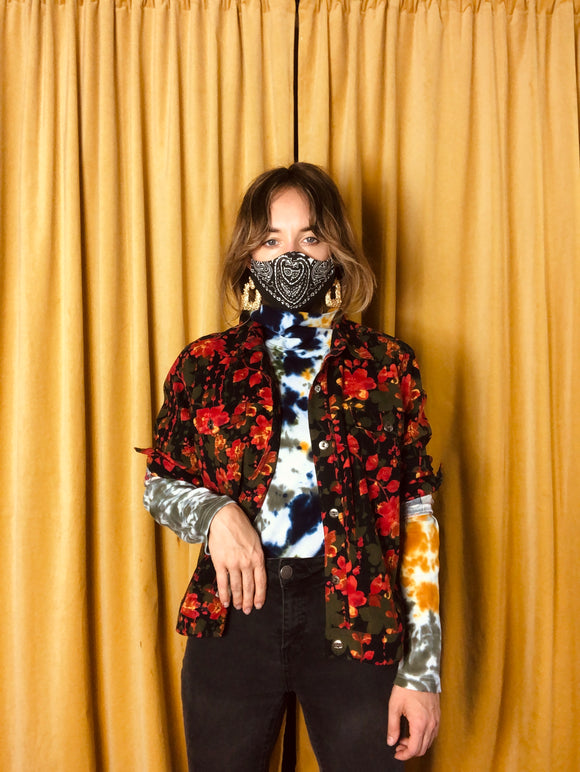 Wild Floral Button Front Jacket