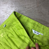 Chartreuse Embroidered Linen 2 PC Set