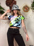 Rainbow Bright Tie Dye Crop Baby Tee