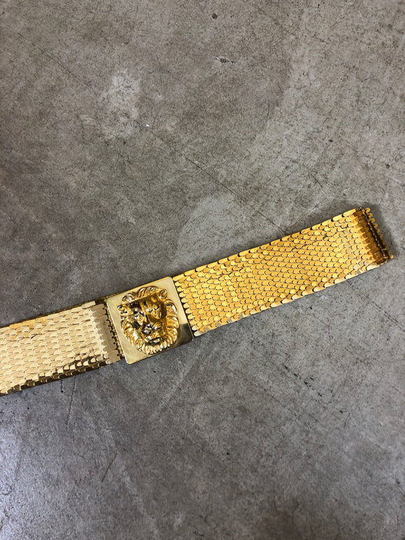 Gold Wildcat 80s Stretch Belt