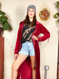 Velvet Duster Jacket Dress