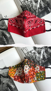 The Retro Patchwork Bandido Rojo Slim Mask
