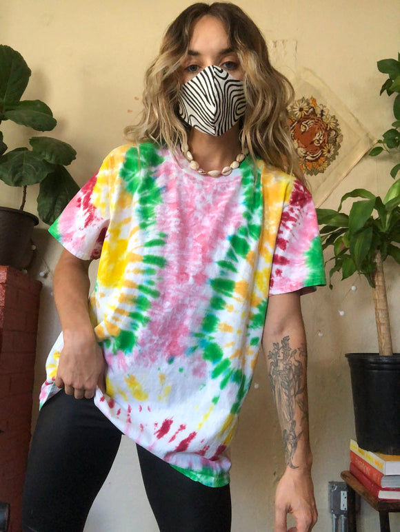 Fruit Stripe Colorful Tie Dye T Shirt