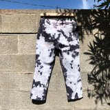 Off White / Grey Tie Dye Cropped Jeans