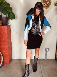 Color Block Western Cropped Vintage Jacket