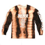Bieber Tour Bleach Tie Dyed Long Sleeve Tee