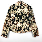 Hand Bleach Dyed Floral Printed Casual Blazer
