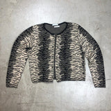Vintage Zebra Animal Print Warm Neutral Cardigan