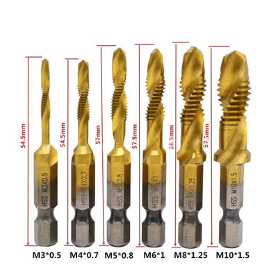 Screw Tap Drill Bit Set (6pcs)