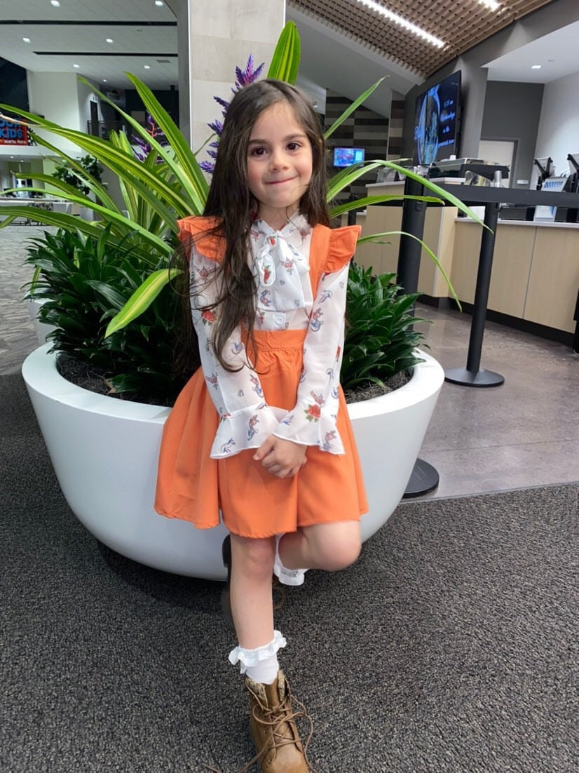 Orange You Glad I'm Ruffled - Sizes 3T-7T