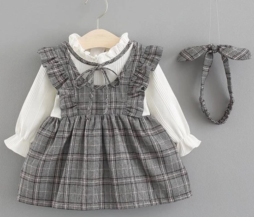 Victoria Dress and Headpiece set - Sizes (9M-24M)