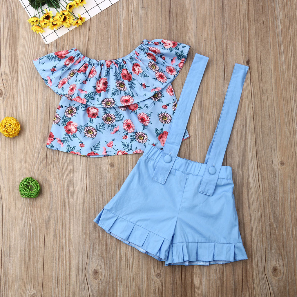 Pastels in Ruffles Set - Sizes (2T-6)