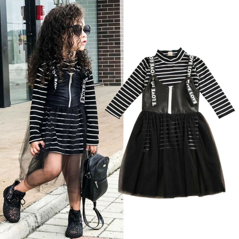 Love Spell Striped Top & Tulle Dress - Sizes (3T-7)