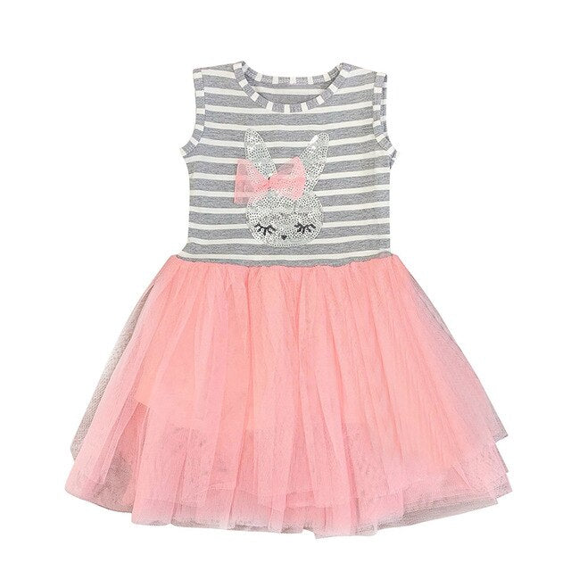 Sequined Bunny Mini Dress - Sizes (12M-4T) (SHIPS WITHIN USA IN 2 WEEKS )