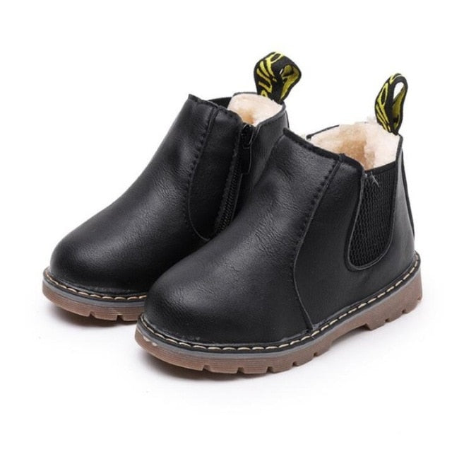 Lucy Leather Ankle Boots - Sizes (5 Kids -4 Youth)